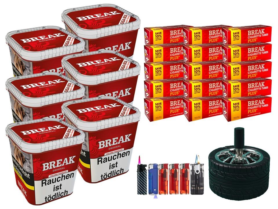 Break Original 6 x 240g Volumentabak 3000 Break Xtra Plus Filterhülsen Uvm.
