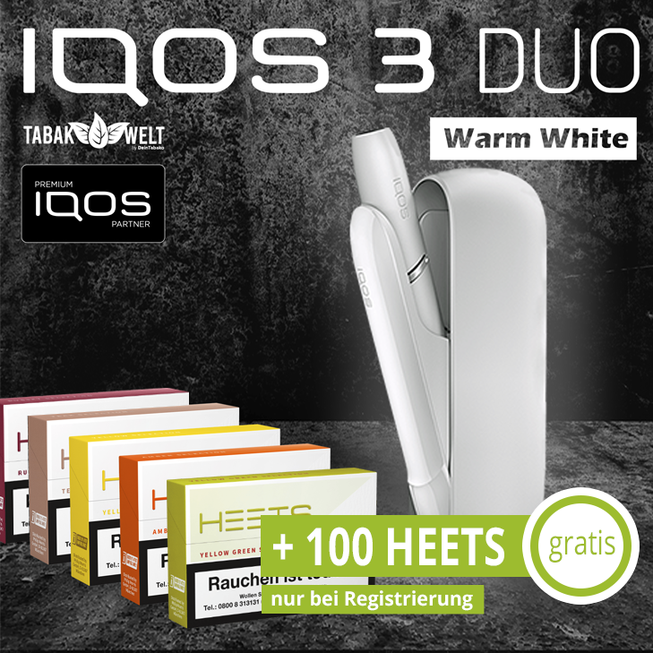 IQOS™ 3 DUO Starterkit Warm White + 100 Heets