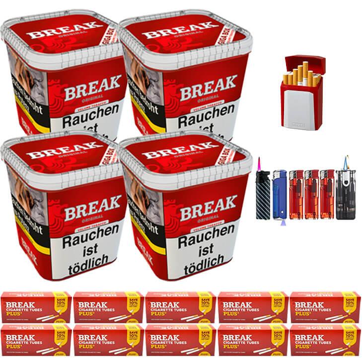 Break Original 4 x 240g Volumentabak 2000 Special Size Filterhülsen Uvm.