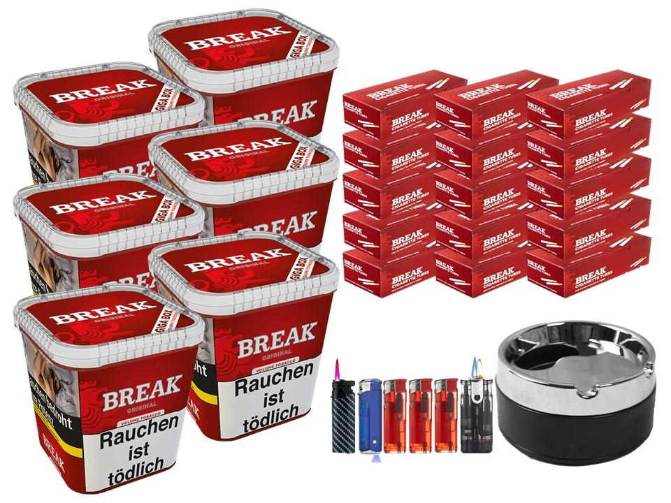 Break Original 6 x 240g Volumentabak 3000 Break Filterhülsen Uvm.