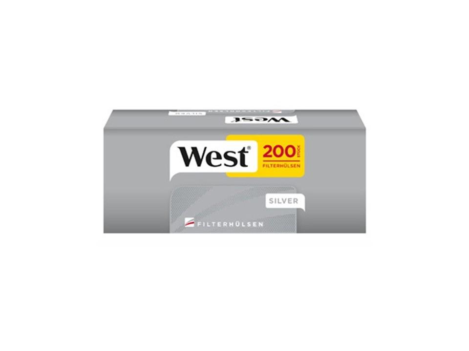 West Red 4 x 280g Volumentabak 2000 West Silver Filterhülsen Uvm.