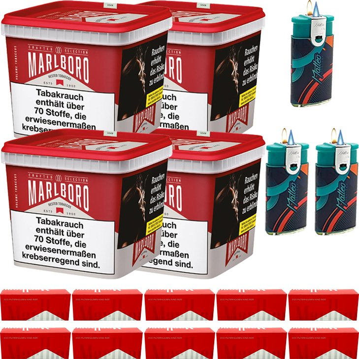 Marlboro Crafted Selection 4 x 270g mit 2000 King Size Hülsen