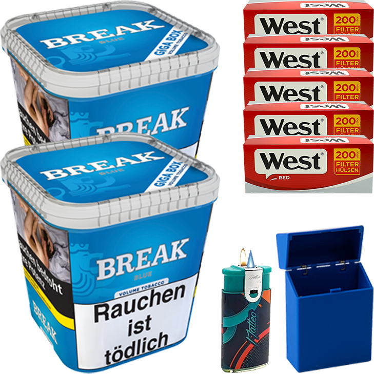 Break Blue / Blau 2 x 240g mit 1000 Hülsen