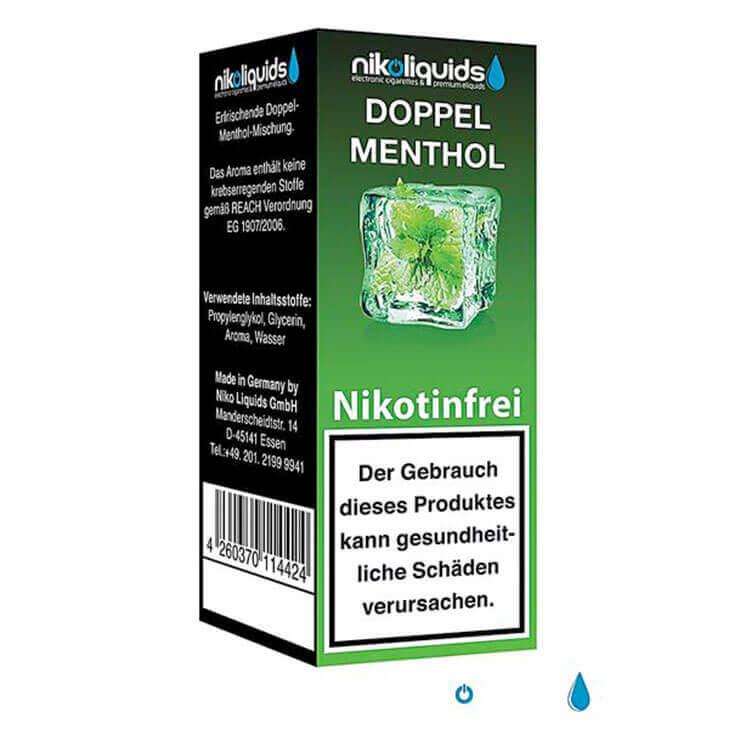 nikoliquids Doppel Menthol nikotinfrei