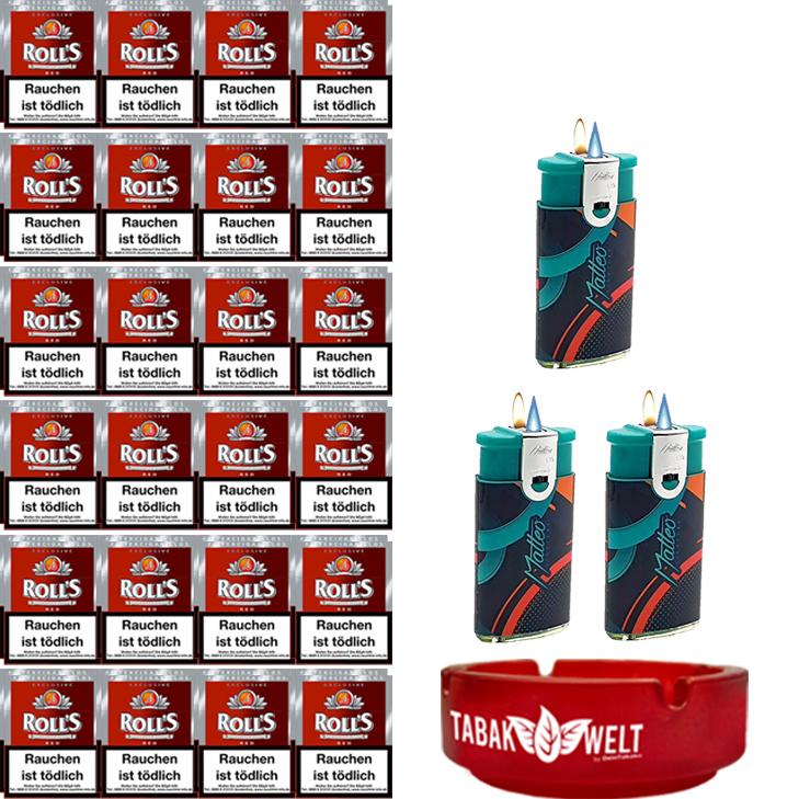 Rolls Exclusive Red Zigarillos mit Filter (6 Stangen) 48 x 23 Stück